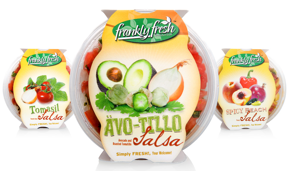 Frankly Fresh Salsa Packaging