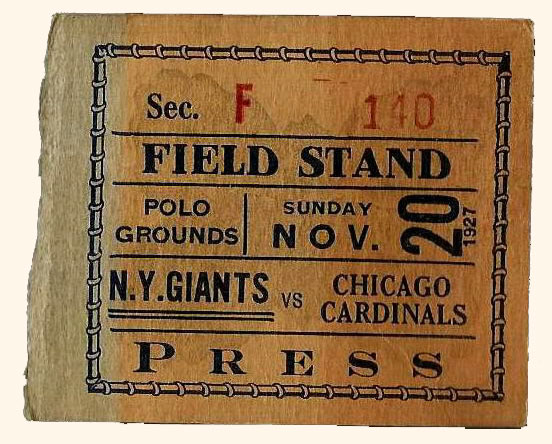 NY Giants Ticket Stub